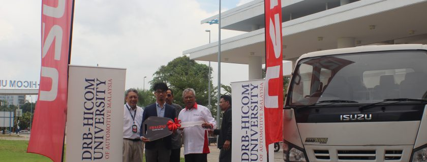 ISUZU Malaysia gave away brand new Lorries to DRB-HICOM University