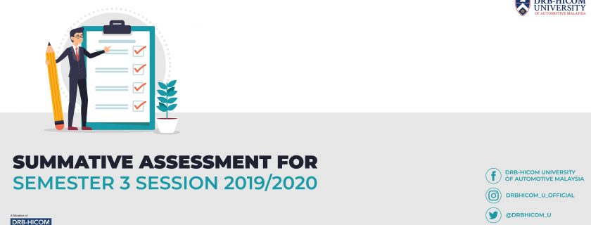 Summative Assessment for Semester 3 Session 2019/2020